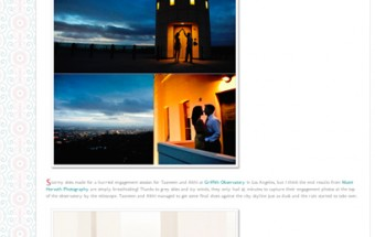 tasneem + abhi – Featured on Borrowed & Bleu!