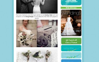 kat + oliver - Featured on Eco-Beautiful Weddings!