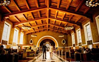 Malibu & Union Station Engagement Session: bavidra + saher