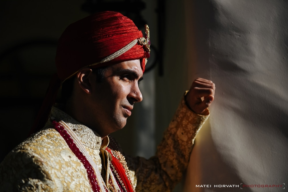 Indian groom portrait at the Hyatt Regency Hotel