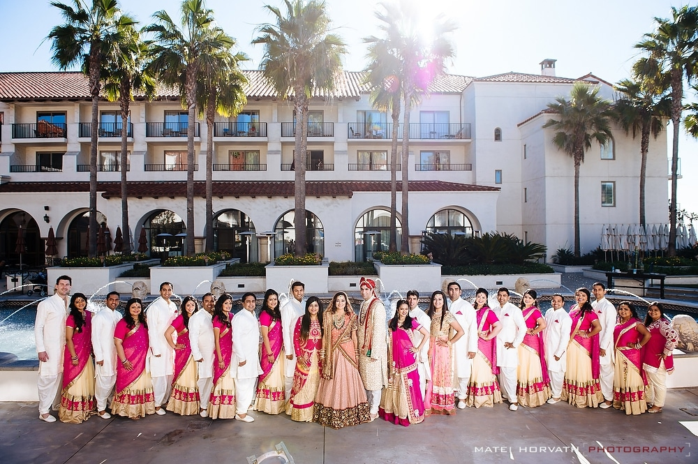 The bridal party -Hyatt Regency Huntington Beach