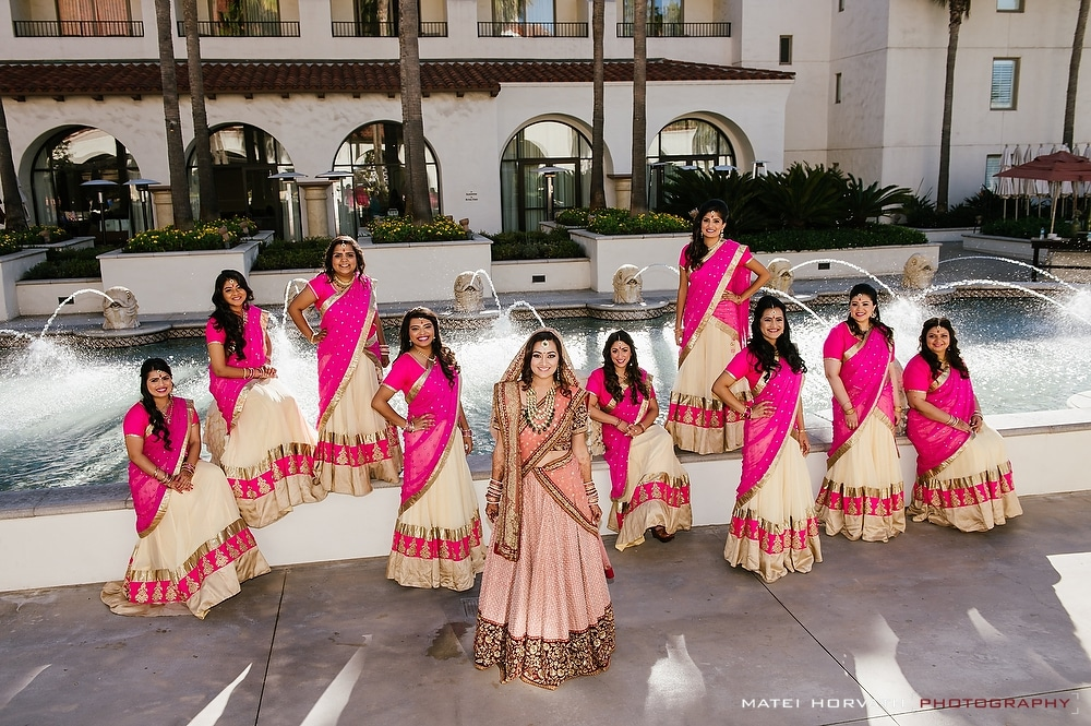 The bride and her bridesmaids -Hyatt Regency