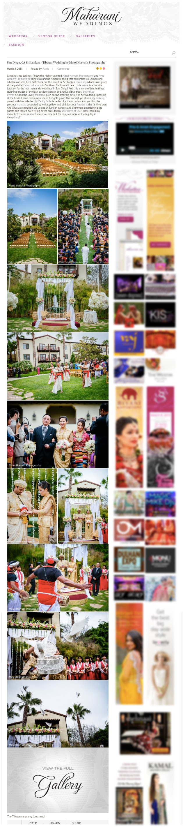 maharani weddings feature cherie and janaka wed at Estancia La Jolla