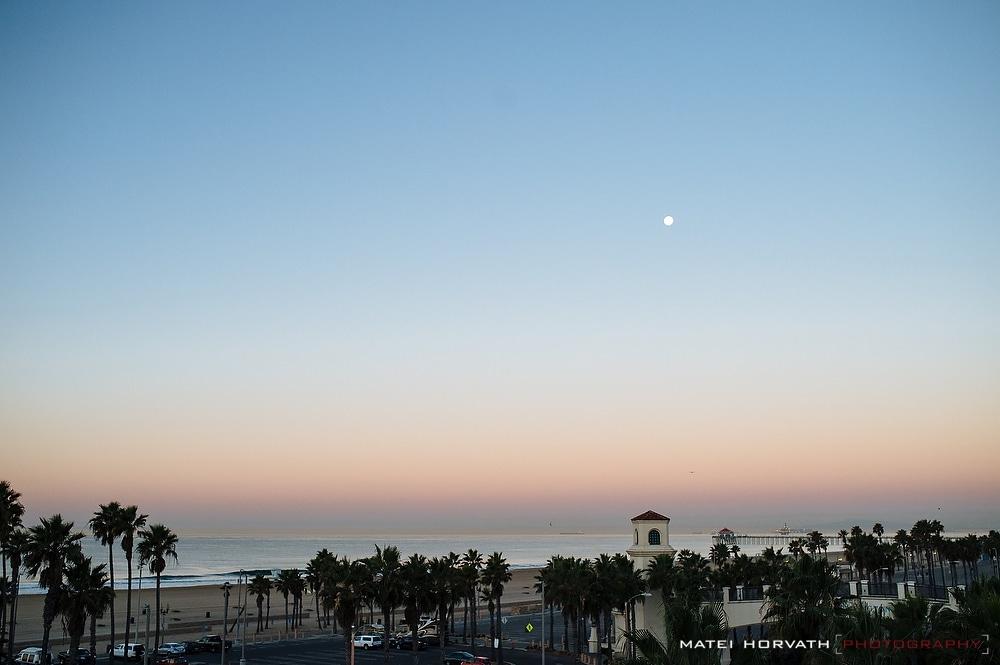 View from Hyatt Regency Huntington Beach early morning