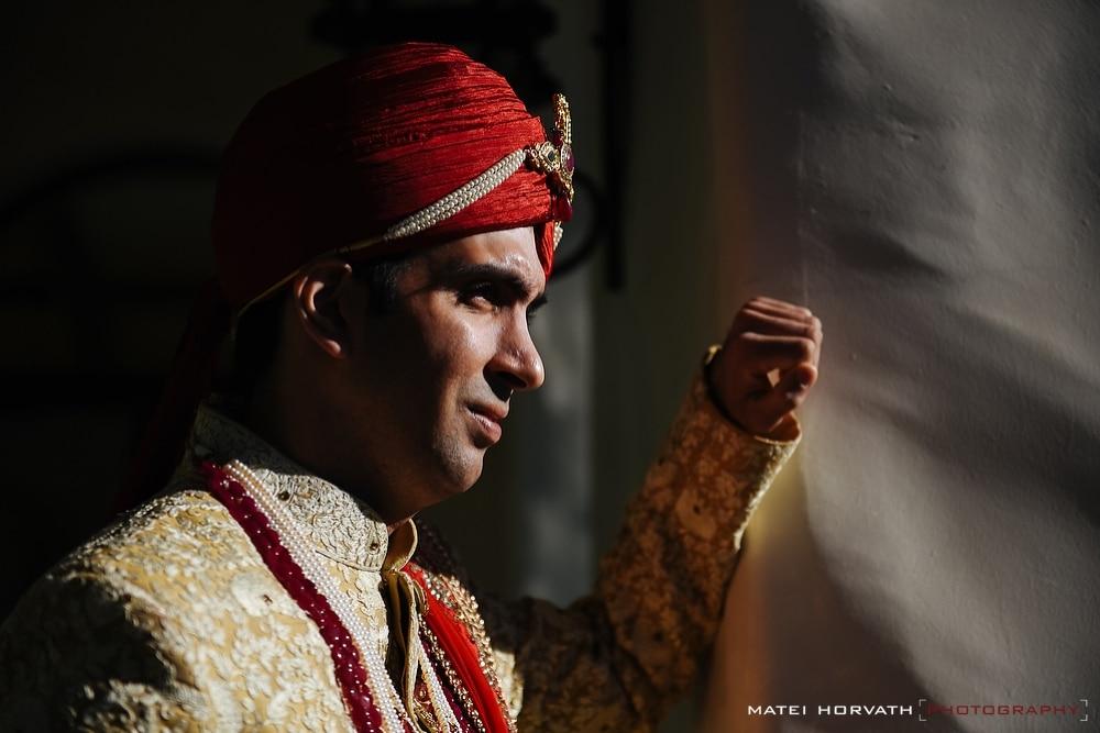 Indian groom portrait at the Hyatt Regency Hotel