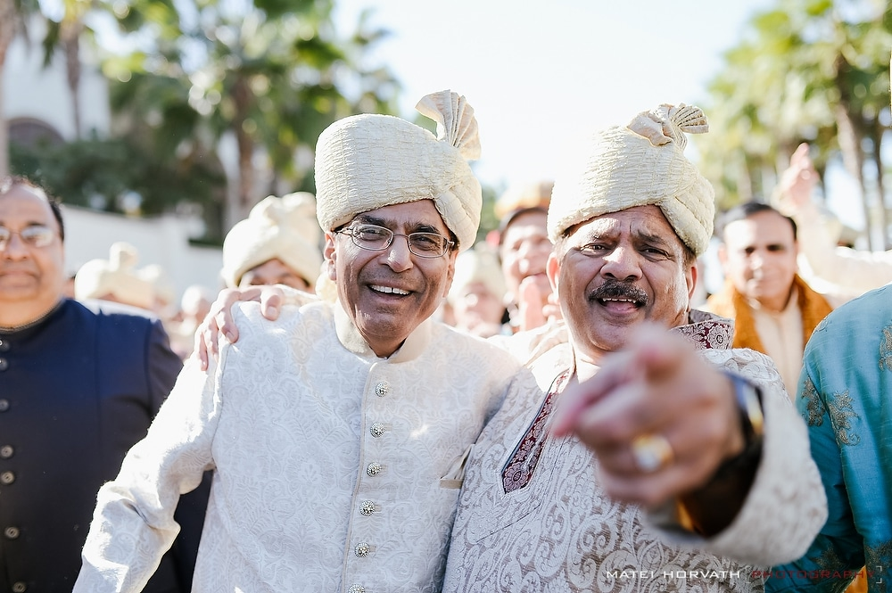The groom's family at the Baraat