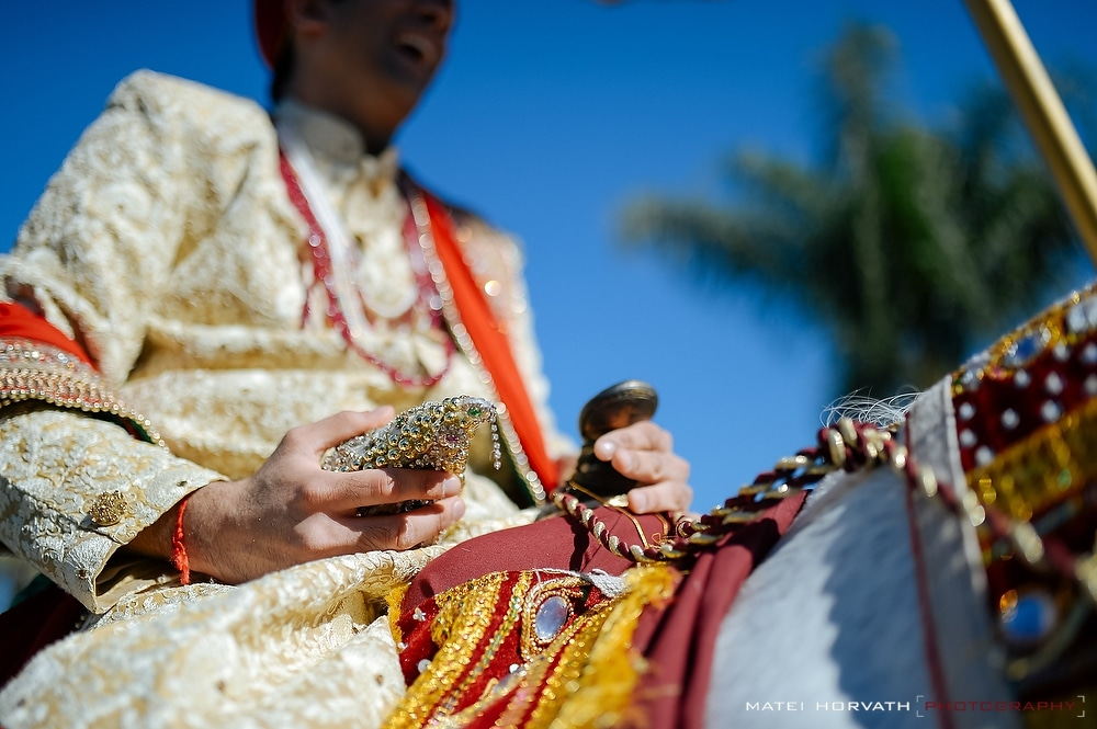 The Baraat- the indian groom's wedding procession