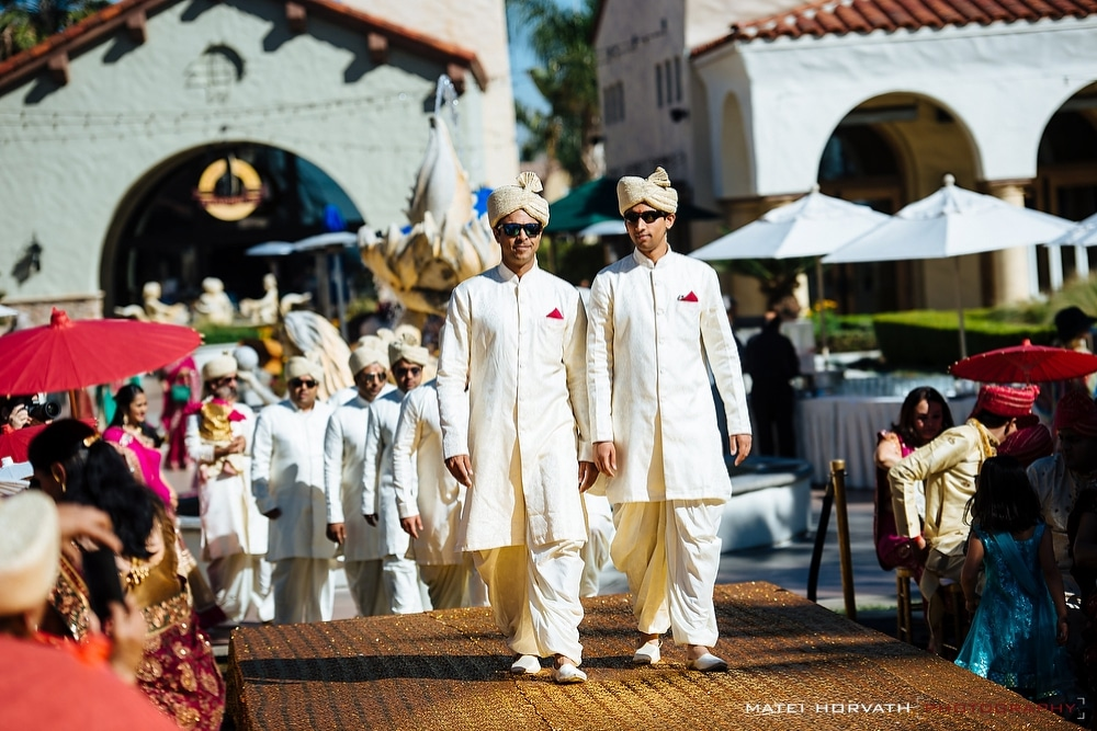 The groom's procession