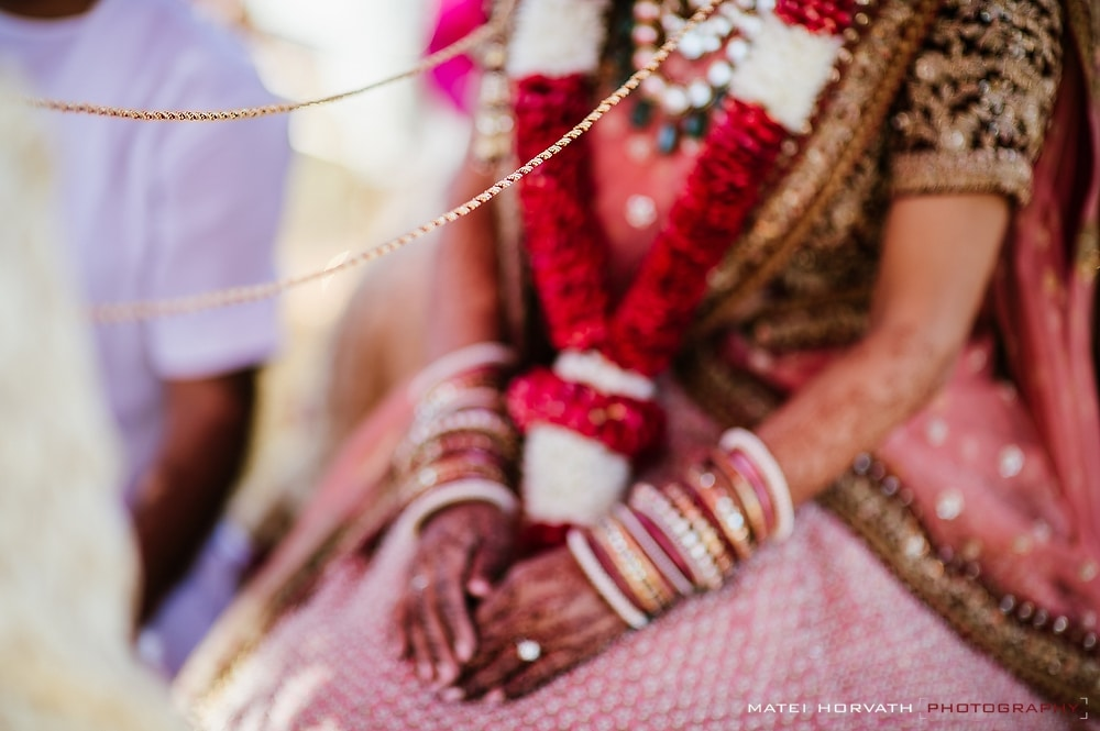 Indian Wedding Ceremony- the thread symbolizes the eternal bond between bride and groom