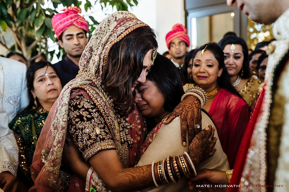 The Viday Ceremony- the bride bids farewell to her family during a very emotional ceremony