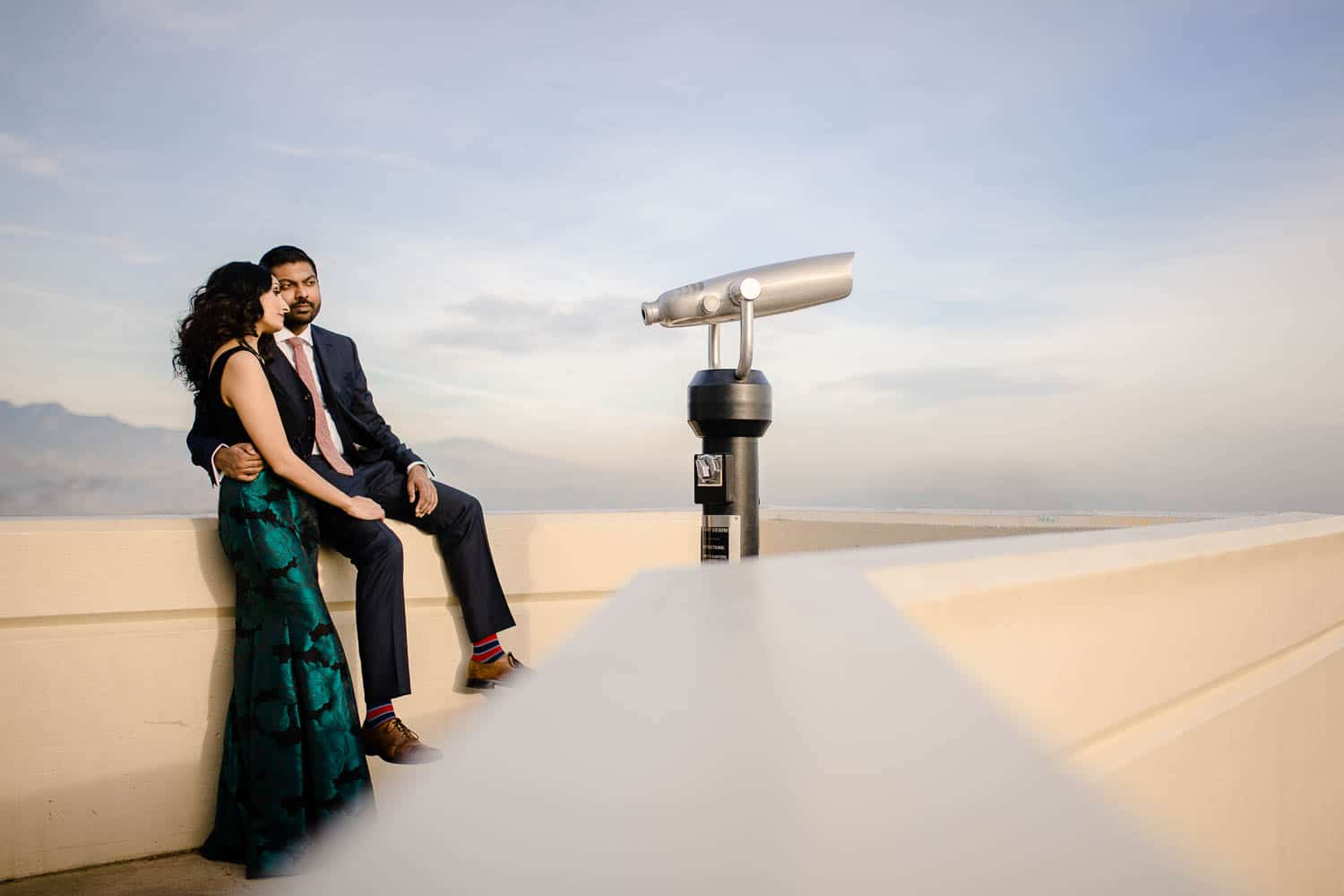 Los Angeles engagement photography at the Griffith Observatory