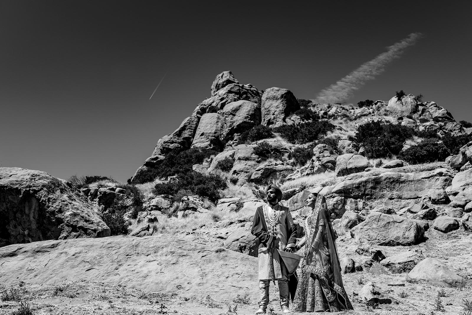 Indian couple portraits at Stoney Point Park, Chatsworth, CA