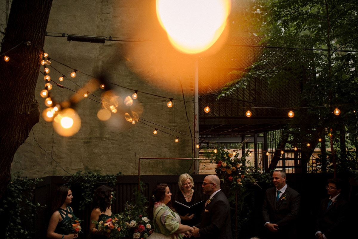 Booklyn wedding photographer Matei Horvath caught this moment during a small ceremony